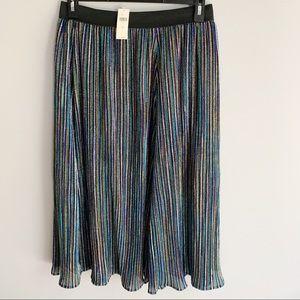 Seen Worn Kept Glitter Sparkle Stripe Midi Skirt